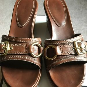 Coach Leather Wedge